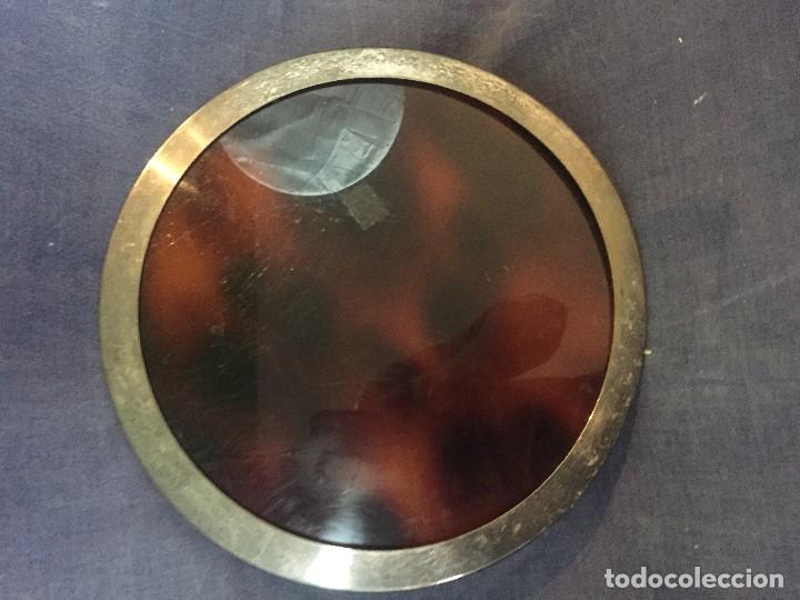 Vintage: bandeja símil carey plastico refuerzo plateado diseño años 70 para hielera decoracion guateque - Foto 5 - 121003243