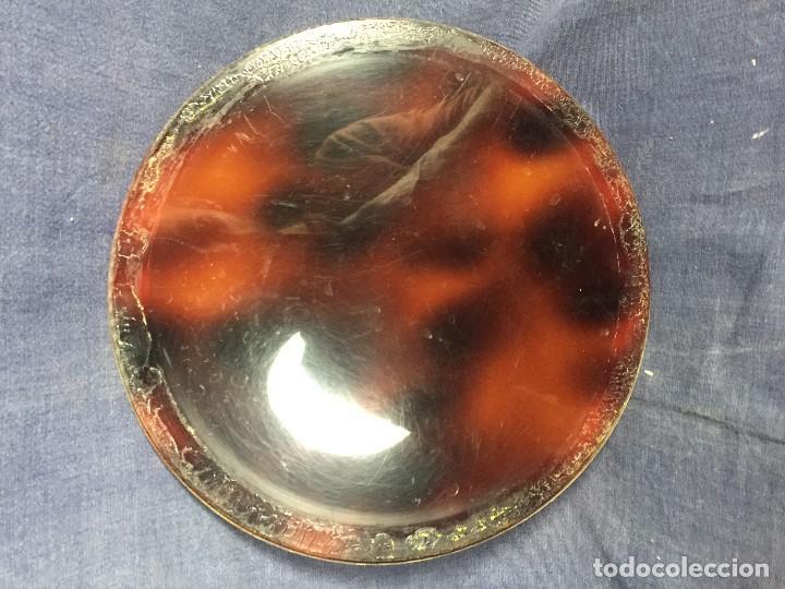 Vintage: bandeja símil carey plastico refuerzo plateado diseño años 70 para hielera decoracion guateque - Foto 6 - 121003243