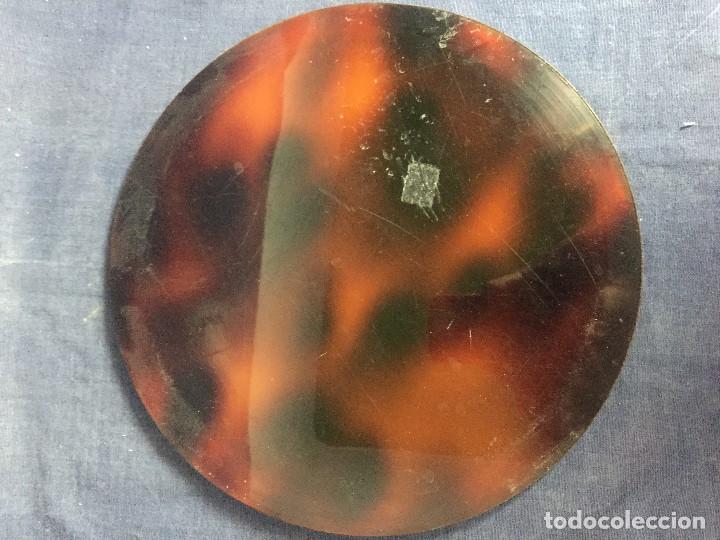 Vintage: bandeja símil carey plastico refuerzo plateado diseño años 70 para hielera decoracion guateque - Foto 7 - 121003243