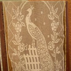Vintage: GRAN VISILLO DE MALLA BORDADO MECANICO, HACIA 1940 50. Lote 121297371
