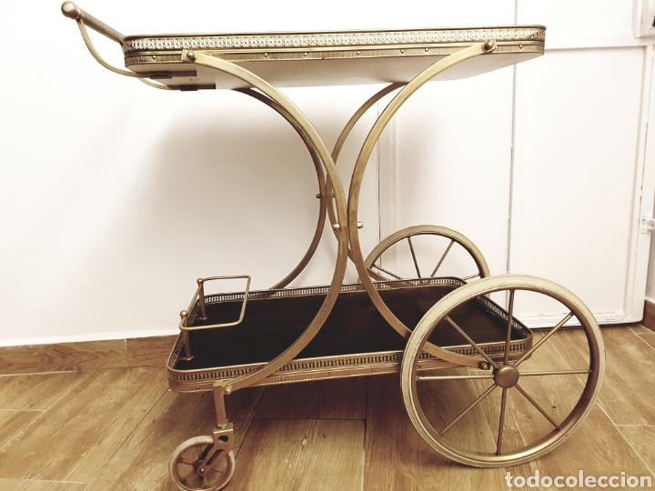 Camarera retro antigua vintage carrito de servi comprar en todocoleccion 130628351 - Carrito camarera vintage ...