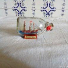 Vintage: BARCO DENTRO DE BOTELLA DE CRISTAL. Lote 122853392