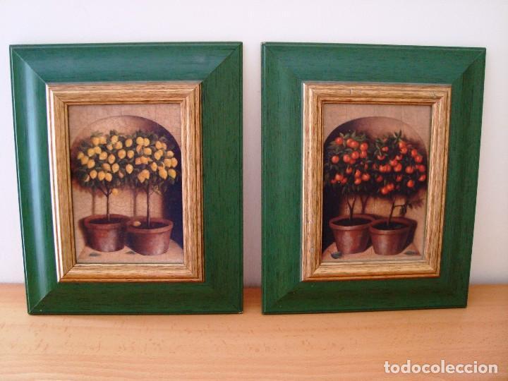pareja de cuadros sobre bastidor de madera y en - Comprar en ...