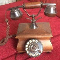 Vintage: TELÉFONO DE MADERA Y METAL VINTAGE. Lote 123050187