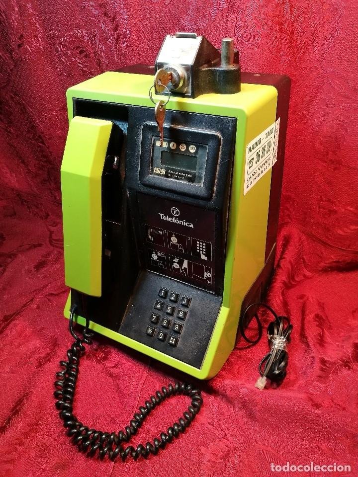 Vintage: TELEFONO PUBLICO DE MONEDAS - PESETAS - AÑOS 80. TELEFONICA MODELO TRM 100 - Foto 4 - 123410571