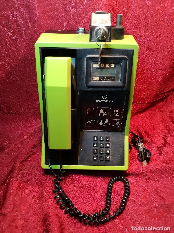 Vintage: TELEFONO PUBLICO DE MONEDAS - PESETAS - AÑOS 80. TELEFONICA MODELO TRM 100 - Foto 6 - 123410571