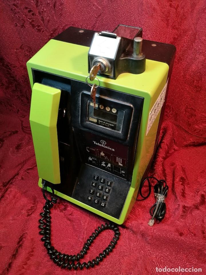 Vintage: TELEFONO PUBLICO DE MONEDAS - PESETAS - AÑOS 80. TELEFONICA MODELO TRM 100 - Foto 7 - 123410571