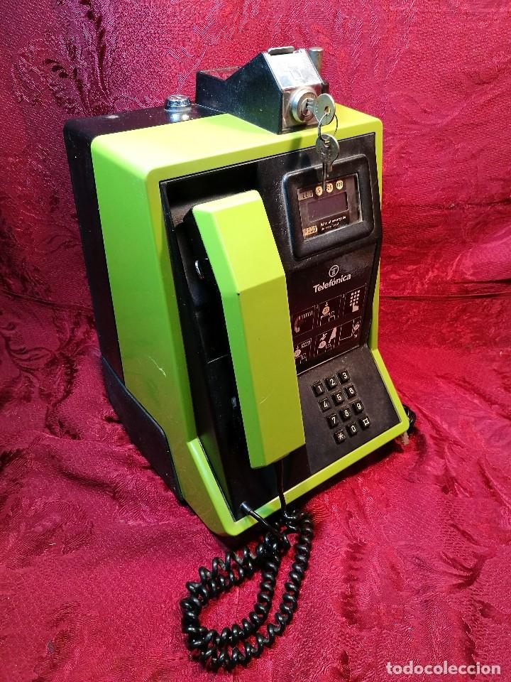 Vintage: TELEFONO PUBLICO DE MONEDAS - PESETAS - AÑOS 80. TELEFONICA MODELO TRM 100 - Foto 11 - 123410571