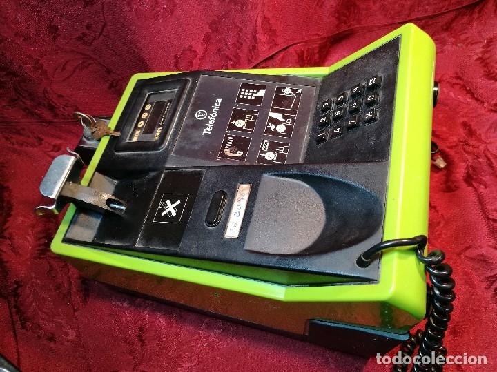 Vintage: TELEFONO PUBLICO DE MONEDAS - PESETAS - AÑOS 80. TELEFONICA MODELO TRM 100 - Foto 13 - 123410571