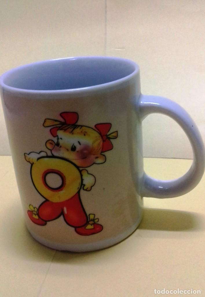 Vintage: Taza mug con simpáticos dibujos infantiles. Vintage años 70. - Foto 2 - 124467411