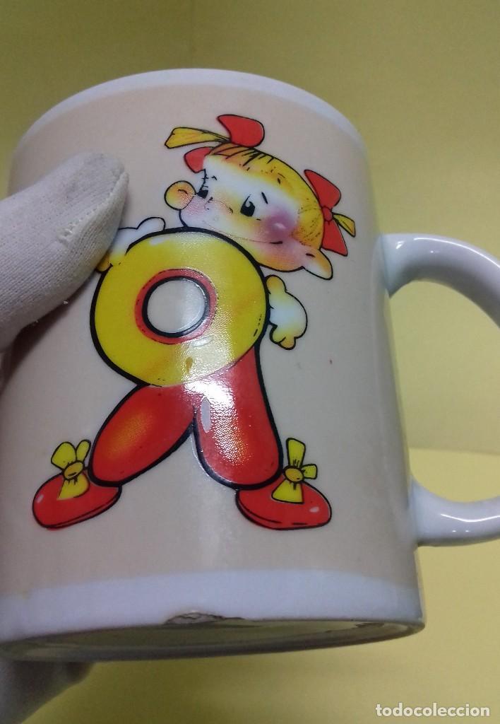 Vintage: Taza mug con simpáticos dibujos infantiles. Vintage años 70. - Foto 5 - 124467411
