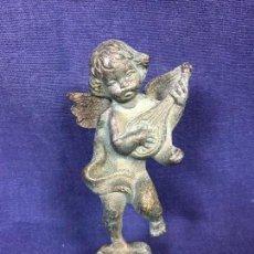 Vintage: ANGEL MUSICO ANGELOTE GUITARRA ALAS BRONCE DORADO Y PATINADO AÑOS 60 70 12,5X6CMS. Lote 124585531