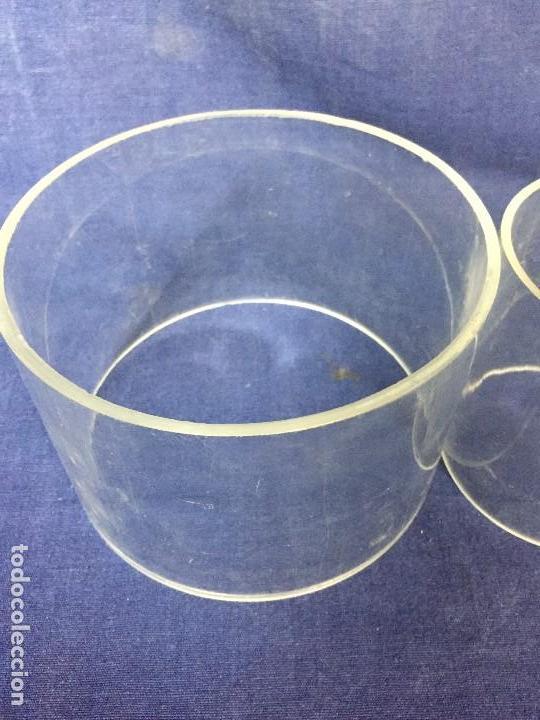 Vintage: tres bases tubo metacrilato plastico transparente años 70 altura 9,5 y 10cms - Foto 4 - 124661375