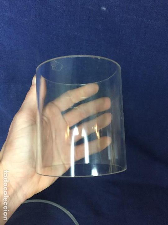Vintage: tres bases tubo metacrilato plastico transparente años 70 altura 9,5 y 10cms - Foto 6 - 124661375