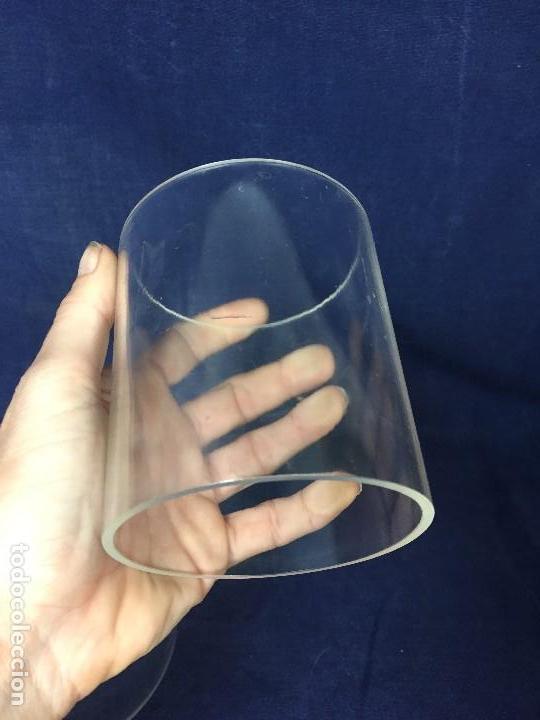 Vintage: tres bases tubo metacrilato plastico transparente años 70 altura 9,5 y 10cms - Foto 8 - 124661375