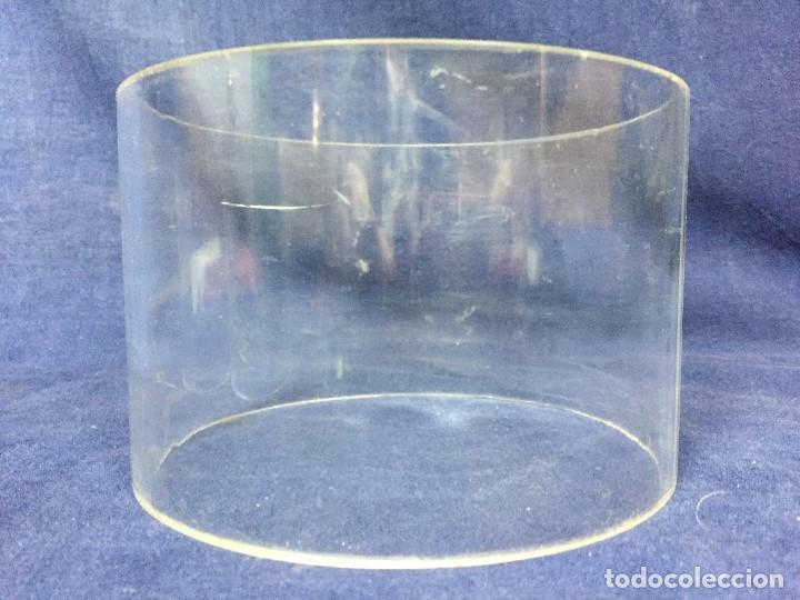 Vintage: tres bases tubo metacrilato plastico transparente años 70 altura 9,5 y 10cms - Foto 10 - 124661375