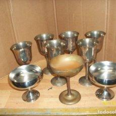 Vintage: LOTE DE 9 COPAS DE METAL PLATEADO. Lote 124808511