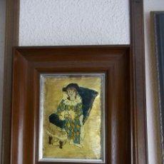 Vintage: CUADRO ESMALTADO ARLEQUIN DE PICASO-VINTAGE. Lote 125215023