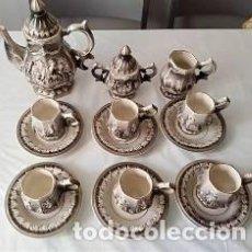 Vintage: JUEGO DE CAFÉ ALCOBAÇA. PORTUGAL. JOSÉ ELIAS. Lote 125587911