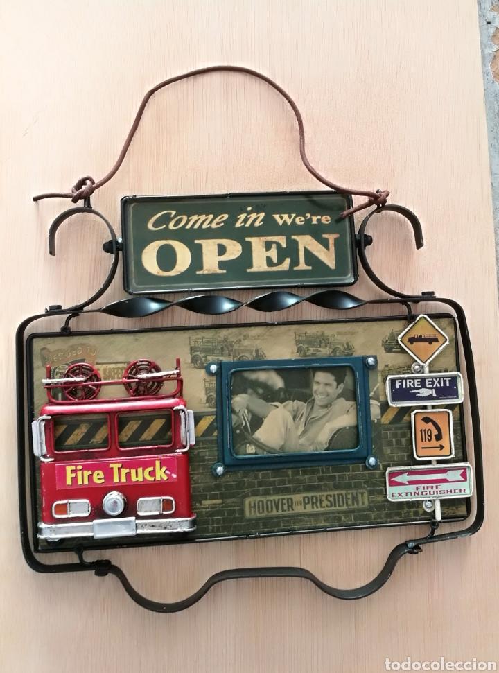 1d96ba6ebf0c Cartel marco fotos metal decoración vintage pin - Vendido en Venta ...