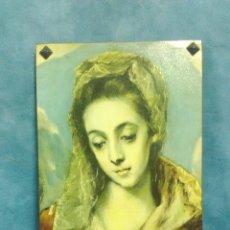 Vintage: VIRGEN LAMINA ENCOLADA SOBRE MADERA VINTAGE. Lote 126719675