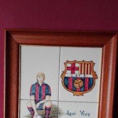 Vintage: CUADRO AZULEJOS F.C. BARCELONA. Lote 127110939