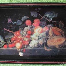 Vintage: BANDEJA DE METAL CON BODEGON DE FRUTAS-AÑOS 60-70. Lote 127797035