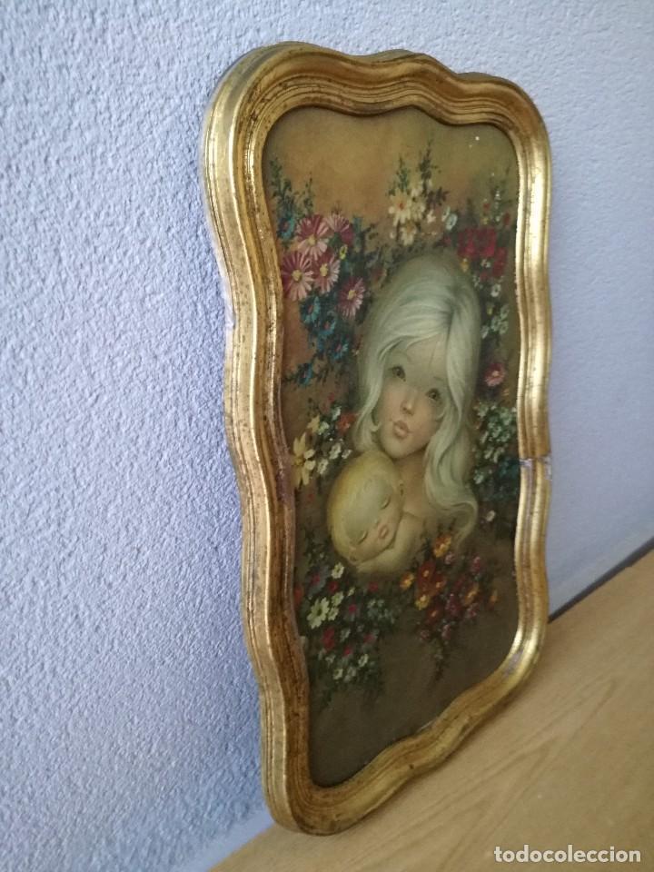 Vintage: Antiguo y precioso cuadro del pintor altarriba. Vintage años 70. - Foto 6 - 128184715