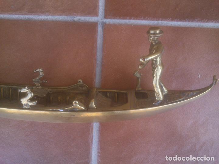 Vintage: ANTIGUA GONDOLA EN BRONCE TRABAJADO - Foto 2 - 128247403
