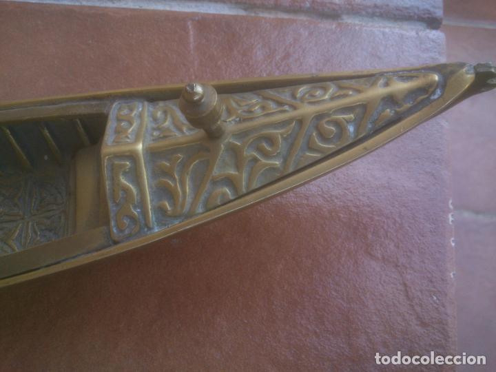 Vintage: ANTIGUA GONDOLA EN BRONCE TRABAJADO - Foto 5 - 128247403