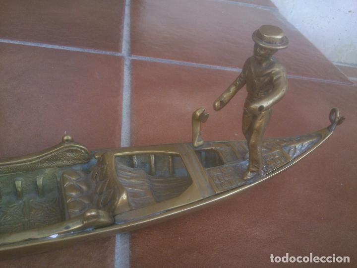 Vintage: ANTIGUA GONDOLA EN BRONCE TRABAJADO - Foto 6 - 128247403