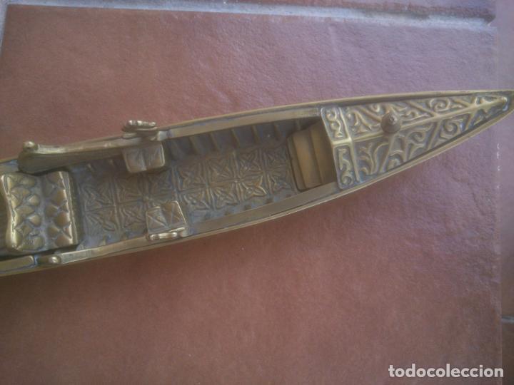 Vintage: ANTIGUA GONDOLA EN BRONCE TRABAJADO - Foto 12 - 128247403