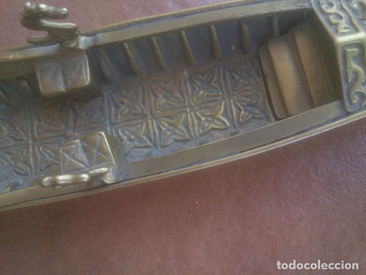 Vintage: ANTIGUA GONDOLA EN BRONCE TRABAJADO - Foto 13 - 128247403