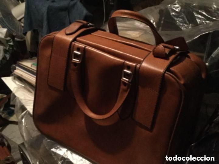 Vintage: Tres Maletas de skay polipiel Años 70 Color marrón - Foto 2 - 128638359