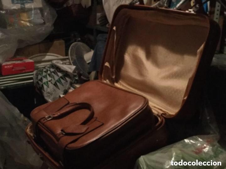 Vintage: Tres Maletas de skay polipiel Años 70 Color marrón - Foto 6 - 128638359