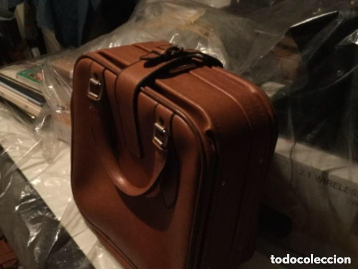 Vintage: Tres Maletas de skay polipiel Años 70 Color marrón - Foto 9 - 128638359
