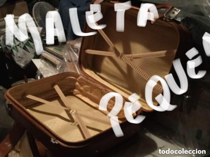 Vintage: Tres Maletas de skay polipiel Años 70 Color marrón - Foto 11 - 128638359