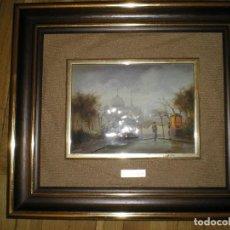 Vintage: CUADRO CON CERÁMICA CON PINTURA DE E. KAZZQUUM. Lote 128747083
