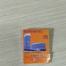 Vintage: CAJA CERILLAS EXPO HOTEL BARCELONA. Lote 128786548
