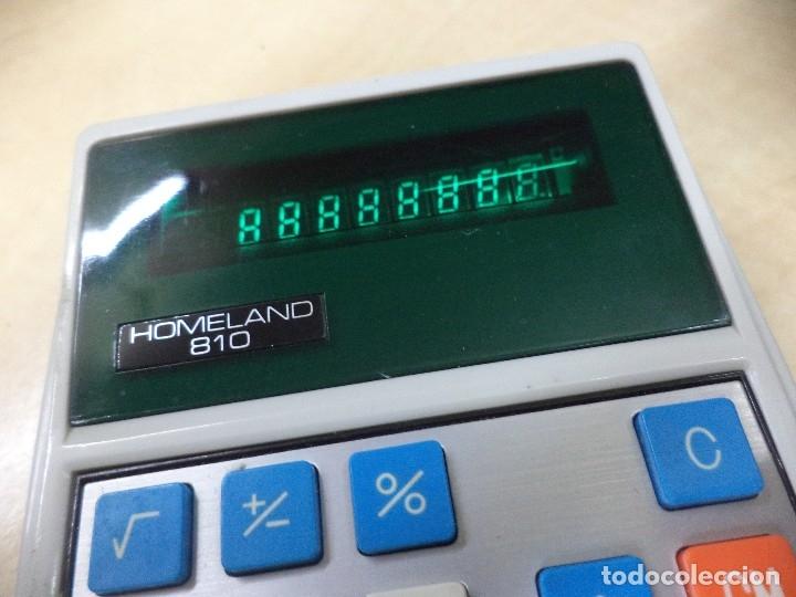 Vintage: Calculadora de bolsillo Toshiba 1975.Homeland 810.Electronic calculator.Diodos verdes. - Foto 3 - 128819431