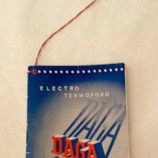 Vintage: DAGA LIBRITO DE INSTRUCCIONES Y GARANTÍA ELECTRO TERMÓFORO 1964 (MANTA ELÉCTRICA). Lote 129421184