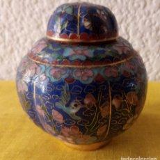 Vintage: JARRON TIBOR CHINA - PEANA BASE - 10 X 3.5 CMS. Lote 130407198