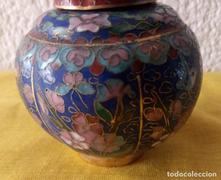 Vintage: JARRON TIBOR CHINA - PEANA BASE - 10 x 3.5 CMS - Foto 3 - 130407198