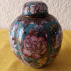 Vintage: JARRON TIBOR CHINA - PEANA BASE - 12.5 X 3.5 CMS. Lote 130407526