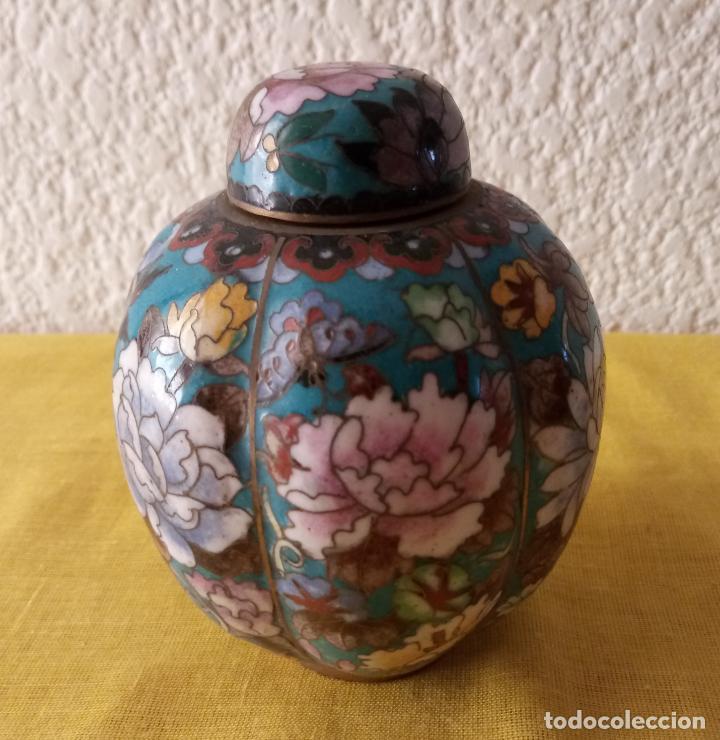 Vintage: JARRON TIBOR CHINA - PEANA BASE - 12.5 x 3.5 CMS - Foto 2 - 130407526