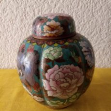 Vintage: JARRON TIBOR CHINA - PEANA BASE - 18 X 5.5 CMS. Lote 130407842