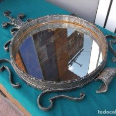 Vintage: GRAN ESPEJO DE FORJA. Lote 130637922