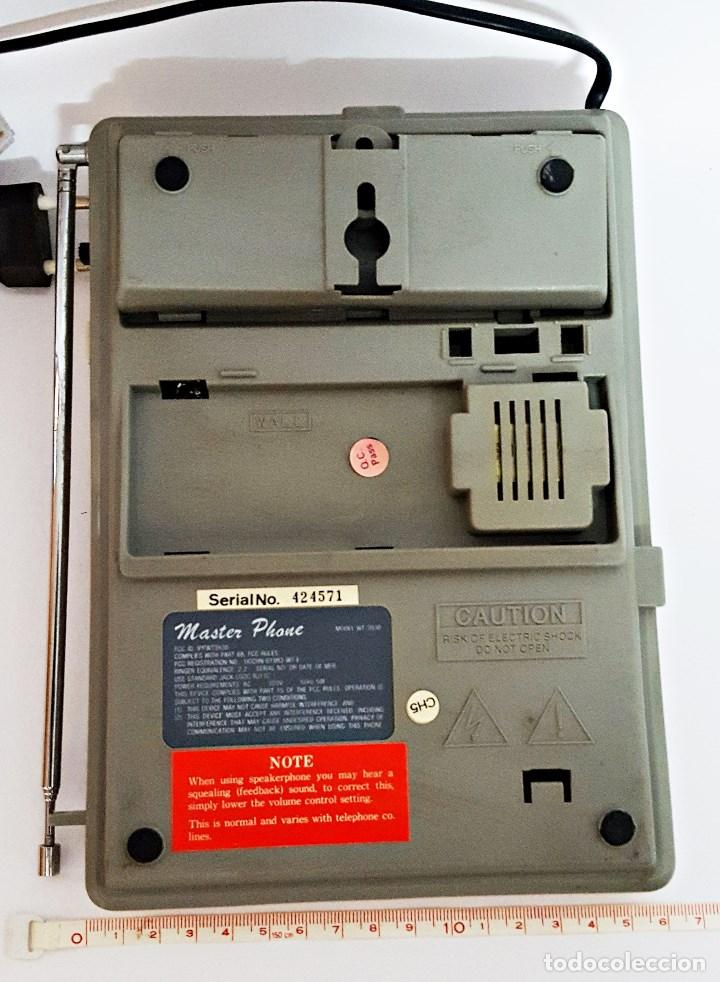 Vintage: Antiguo telefono inalambrico Master Phone WT-3930 - Foto 4 - 130801504