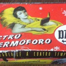 Vintage: ELECTRO TERMÓFORO DAGA - ANTIGUA MANTA ALMOHADILLA ELÉCTRICA - CUATRO TEMPERATURAS - AÑOS 60. Lote 130907800