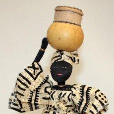 Vintage: NEGRITA DE FIELTRO DE NIGERIA.. Lote 131523198
